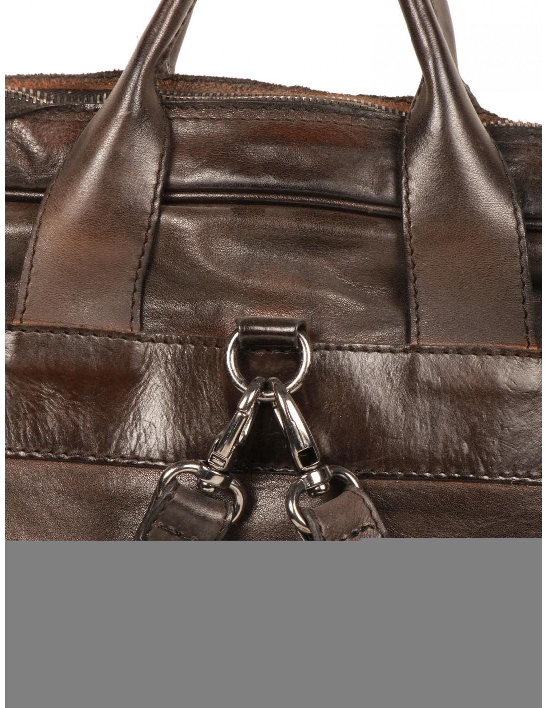 sac dos en cuir bi mati re numero 10 pour homme serie. Black Bedroom Furniture Sets. Home Design Ideas