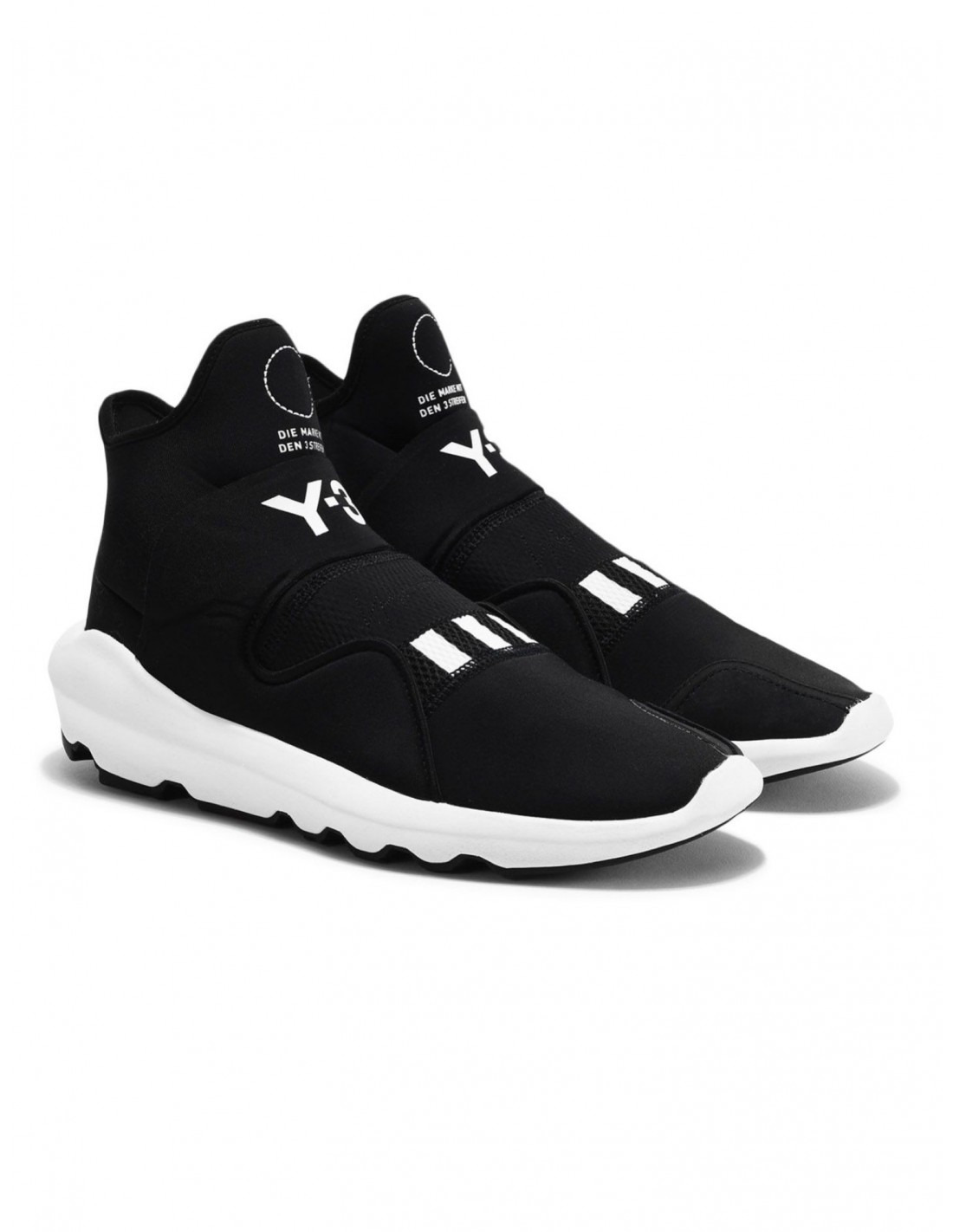 176a5b2b5bf8 ... Y-3 SUBEROU slip-on sneakers in black neoprene x ADIDAS. Reduced price   New