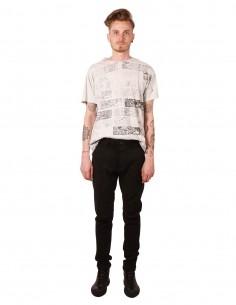 Pantalon en cuir stretch noir ISAAC SELLAM PISTONNE STRETCH H19