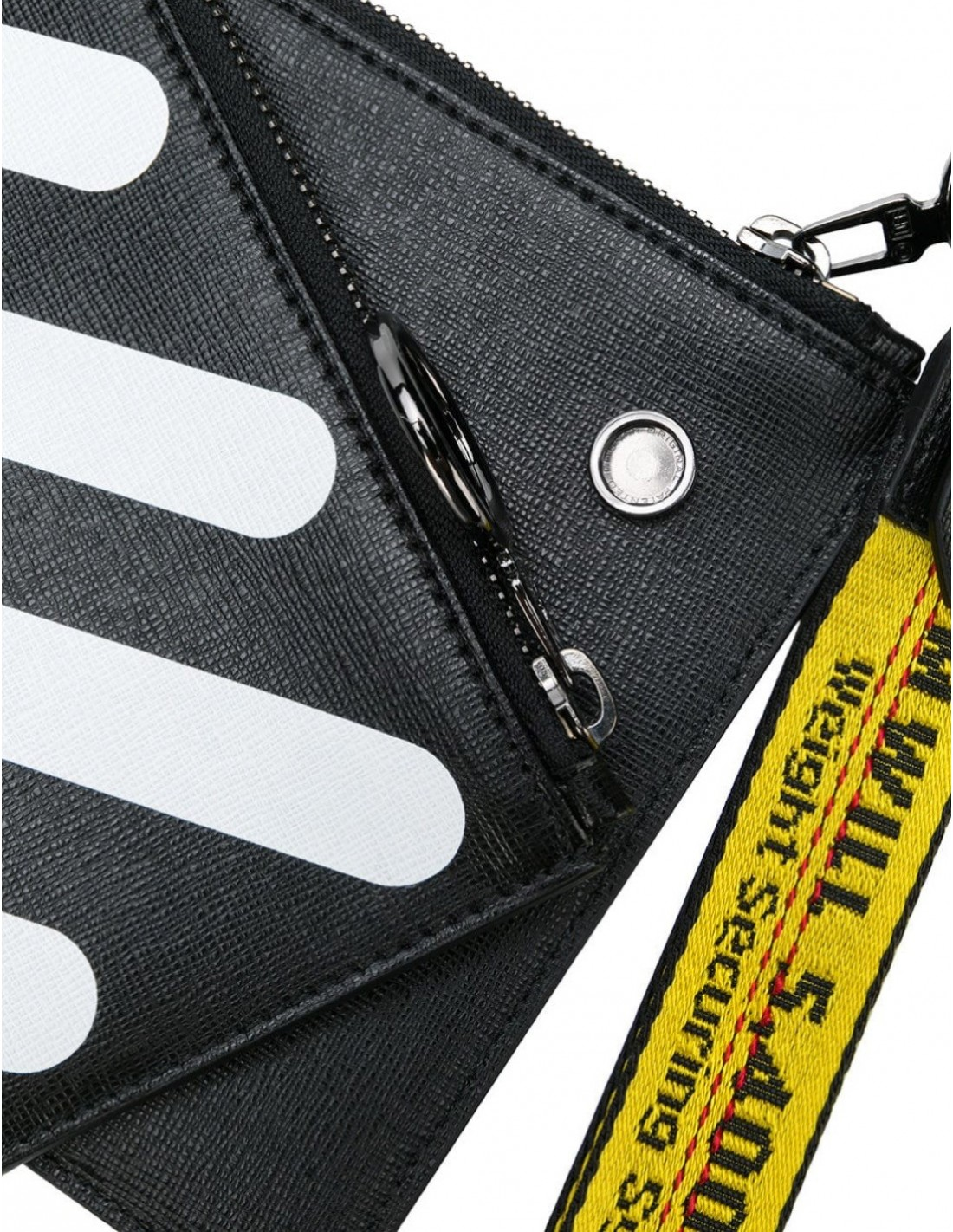 ff65f713204 OFF-WHITE c o Virgil Abloh diad double flat pouch in black and white
