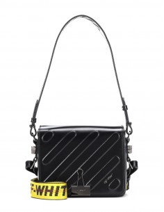 OFF WHITE DIAG PADDED FLAP BAG