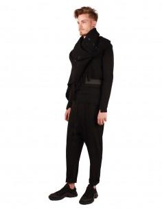isabel benenato Pantalon coupe carotte en laine noire