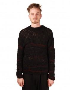 Pull isabel benenato en tricot et crochet noir