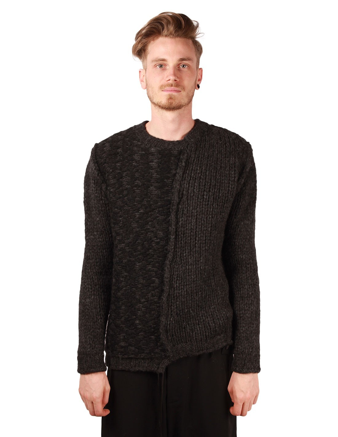 gros pull d 39 hiver gris isabel benenato en laine alpaga et. Black Bedroom Furniture Sets. Home Design Ideas