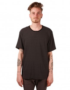 attachment Striped tee in grey cotton
