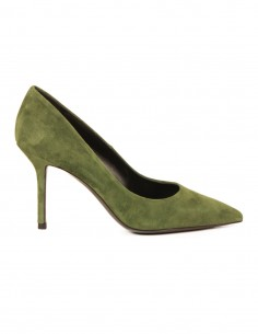 premiata Pump in kaki suede with a pointed toe