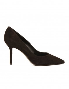 premiata Pump in black suede with a pointed toe