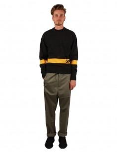 """oamc Pantalon """"SHELTER"""" kaki coupe droite"""