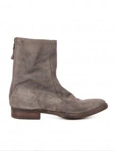 premiata Hi-top boots in grey scraped leather