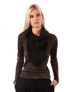 isabel benanto Grey collar in ribbed wool