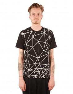cdc homme plus T-shirt noir à motifs géométriques