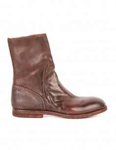 "premiata ""ROV BRASS"" boots in burgundy leather with round toe"