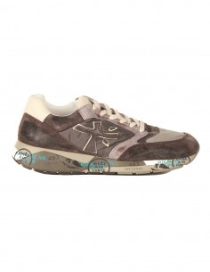 """""""ZAC"""" sneakers in grey nylon and coated suede premiata white"""