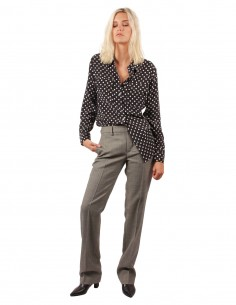 """FRANCY"" grey pants in woolen gabardine pantaloni torino"