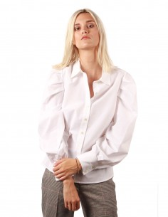 Chemise manches bouffantes en coton blanc frame