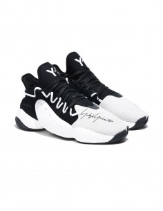 """adidas y3 """"BYW BBALL"""" sneakers in beige and black"""