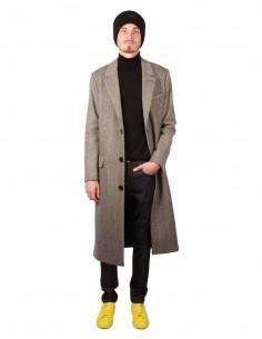 ami paris Long herringbone three-buttons coat