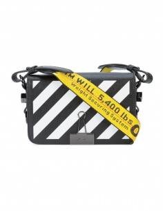 off white mini striped cross bag