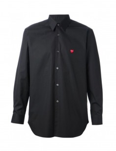 cdg play chemise noire