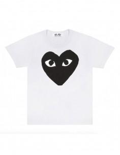 CDG PLAY - T-shirt blanc avec grand coeur noir