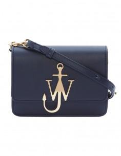 Mini sac à main JW Anderson en cuir navy