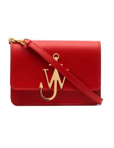 "JW ANDERSON Red and gold anchor ""logo bag"""