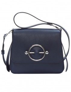 "JW ANDERSON ""Disc"" bag made in navy leather"
