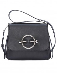 """JW ANDERSON Black """"Disc"""" bag in leather"""