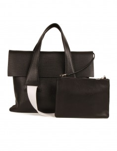 """NO/AN Two-tones """"Flap"""" bag in leather"""