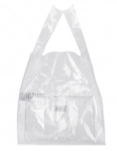 MAISON MARGIELA PVC shopper bag with white logo on front