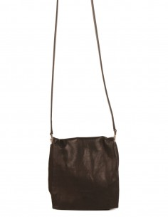 "Rick Owens ""Flap Adri"" little bag made in black leather"