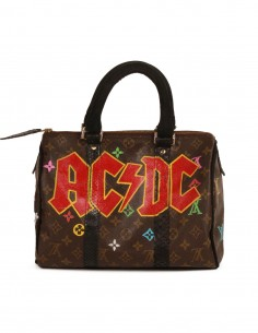 "PHILIP KARTO ""ACDC"" handbag made printed leather"