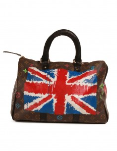 "PHILIP KARTO ""American flag"" bowling bag"