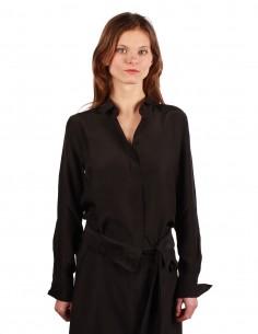 BARBARA BUI classic shirt made in a black fluid silk