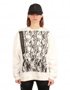 "Adidas x Mc Cartney logo ""Crewneck"" white sweatshirt"