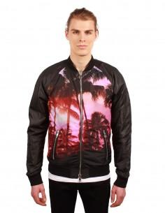 BALMAIN Palms printed bomber jacket