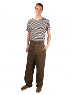 "MAISON MARGIELA ""Décortiqué"" wide-leg trousers in khaki"