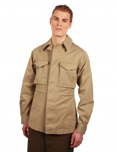 MAISON MARGIELA Safari jacket in beige cotton