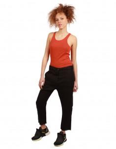 THOM KROM Low bottom cropped pants - Black