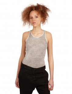 THOM KROM grey tank top for women SS19