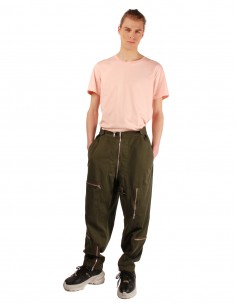 MAISON MARGIELA cargo pants with multi pockets in khaki cotton