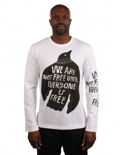 """COMME DES GARCONS HOMMES PLUS """"We are not free until everyone is free"""" tee"""