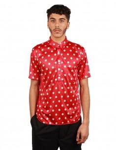 Chemise à pois rouge et blanc Comme Des Garçons Homme Plus