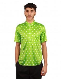 Chemise à pois vert et blanc Comme Des Garçons Homme Plus