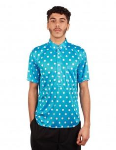 Chemise à pois bleu et blanc Comme Des Garçons Homme Plus