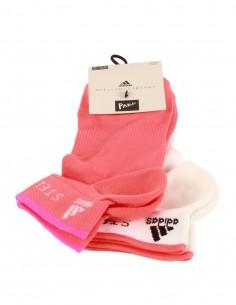 Pack de deux paires de chaussettes rose et blanc Adidas x Stella McCartney