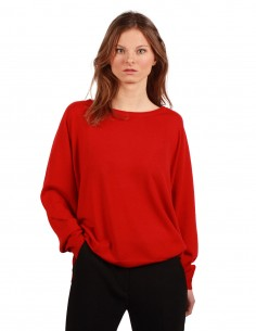 BARBARA BUI oversized sweater made in red wool