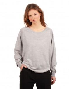 BARBARA BUI oversized sweater made in grey wool