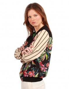 Veste à col chemise à imprimé floral Barbara Bui