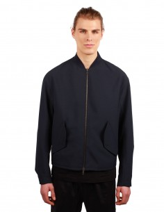 "OAMC ""Rudolf"" bomber jacket made in a navy impermeable twill"
